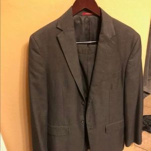 Merona Men's Suit (GREY) 38R jacket, 32W/30L pants